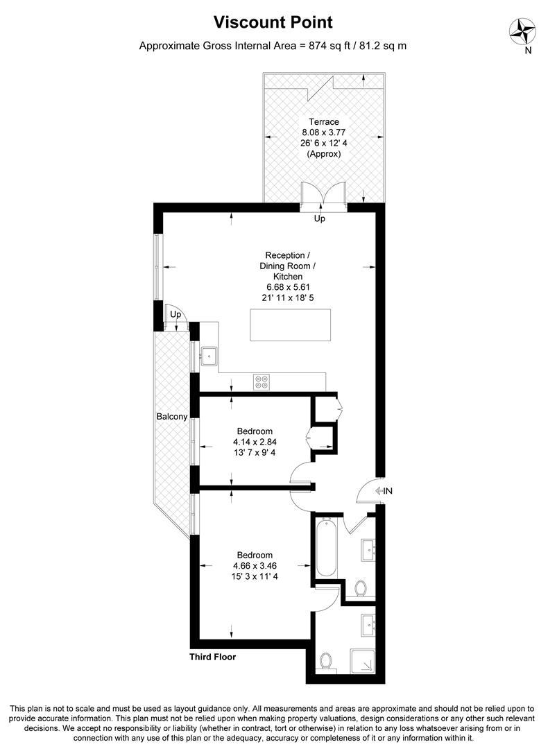 Floorplan for Viscount Point, The Broadway, Wimbledon